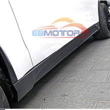 Реальные углеродного волокна боковые юбки 1 пара для BMW F15 X5 2014UP B263
