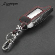 Jingyuqin dxl3000 couro caso chaveiro para tamarack pandora lcd d073 dxl 3100/3170/3300 i mod sistema de alarme de controle remoto capa