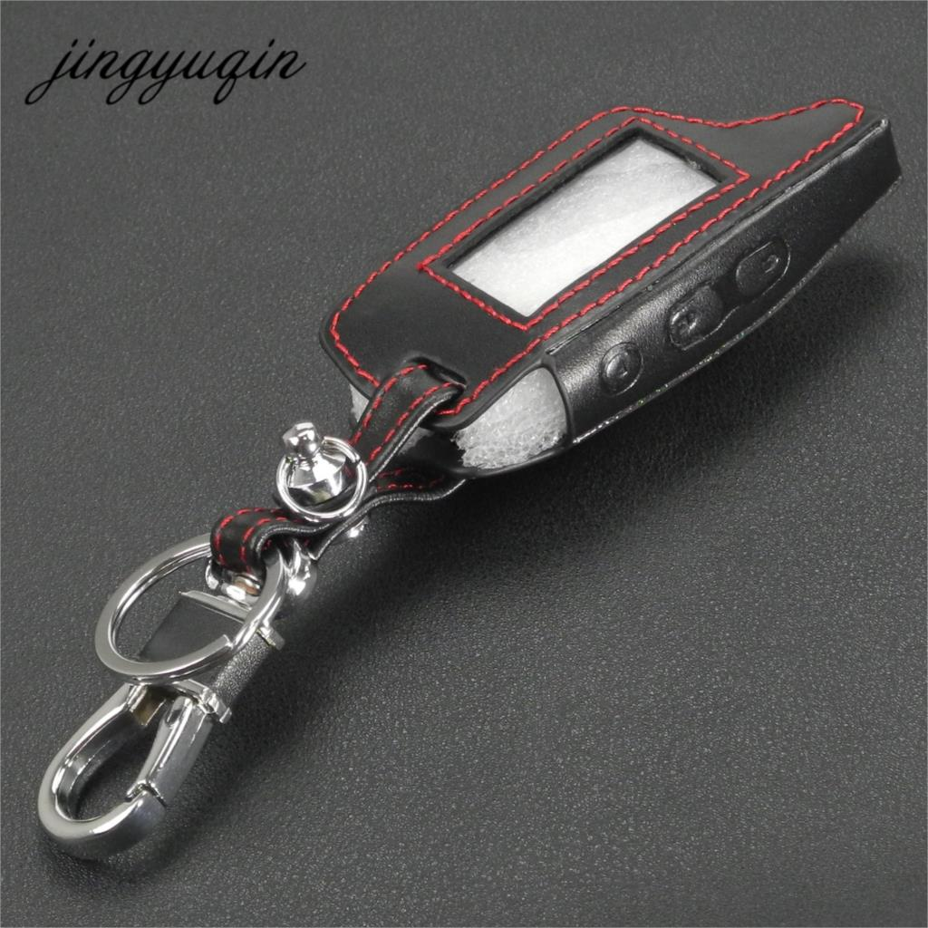 Jingyuqin DXL3000 Leather Case Keychain For TAMARACK PANDORA LCD D073 DXL 3100/3170/3300 I-mod Alarm System Remote Control Cover