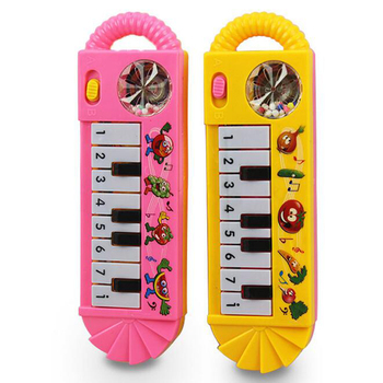 1 Piece Plastic Baby Children Electric Piano Musical Instruments Rattles Hand Bell Infant Newborn Preschool Learning Toys Gifts