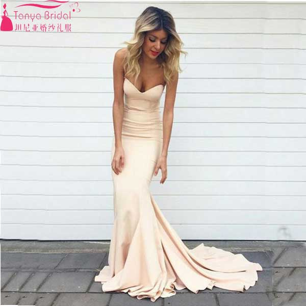 Lovely Mermaid Evening Dress Sweetheart Spandex Elegant Charming Prom Bridemaid Dress  Wedding Guest Dress Long Dress Z020
