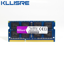 Kllisre ddr3l sodimm 4GB 8GB 1333MHz or 1600MHz 1.35V PC3L laptop ram memory