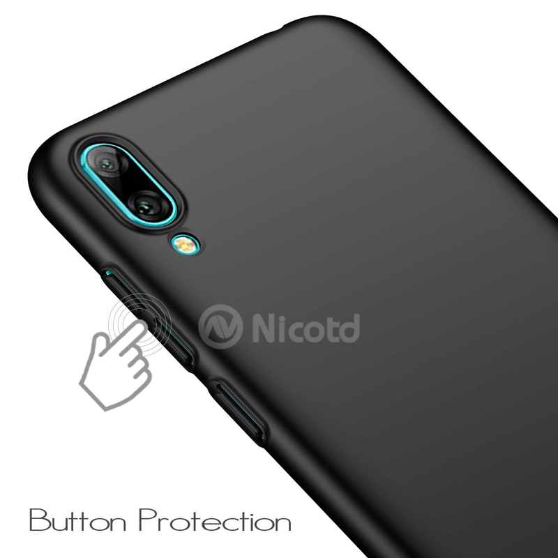 for Huawei Y6 pro 2019 Luxury Plastic Hard Matte Back cover cases sfor Huawei Y6 pro 2019 Frosted Hard PC Matte Case bags Coque (9)