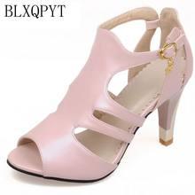 BLXQPYT Plus Grote kleine Size 28--52 Schoenen Vrouw Sandalen Hoge Hakken Zomer zoete mode trouwschoenen Chaussure Femme 9898