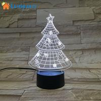 LumiParty Colorful LED Stereovision Lamp Christmas Tree Shape Colour Change Night Light Festival Party Decoration USB