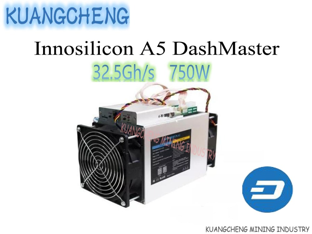 Brand New Innosilicon A5 Dashmaster, X11 DASH Miner, 30.2Gh/S AISI Chip 750W Better Than ANTMINER D3