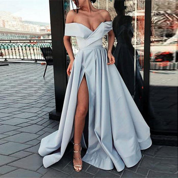 New arrival evening Dresse Formal vestido noiva sereia prom party robe de soiree red gown luxury frock sexy side slit pockets 4
