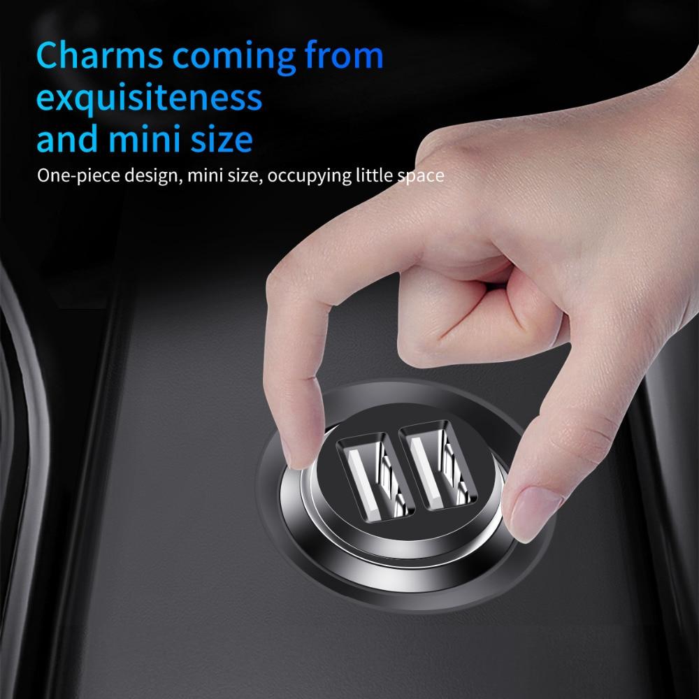 Generic Koyot Car Charger Mini Dual Usb Car Charger Car Styling Usb