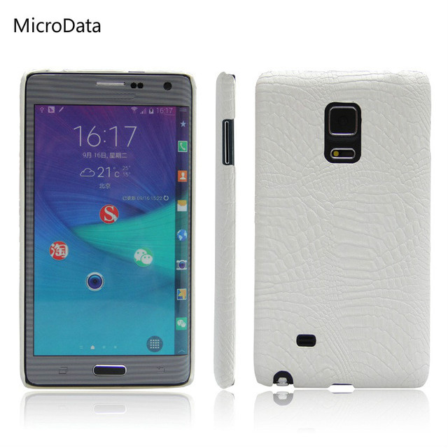 buy popular 92287 365ed US $3.22 |MicroData For Samsung Galaxy Note Edge Luxury Crocodile Pattern  Case On N915 N9150 N915F Hard PU Leather Phone Case-in Half-wrapped Case ...