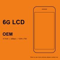 10 개 OEM 휴대 전화 4.7 전화 6 LCD 화면 디스플레이 교체 + 프레임 + 카메
