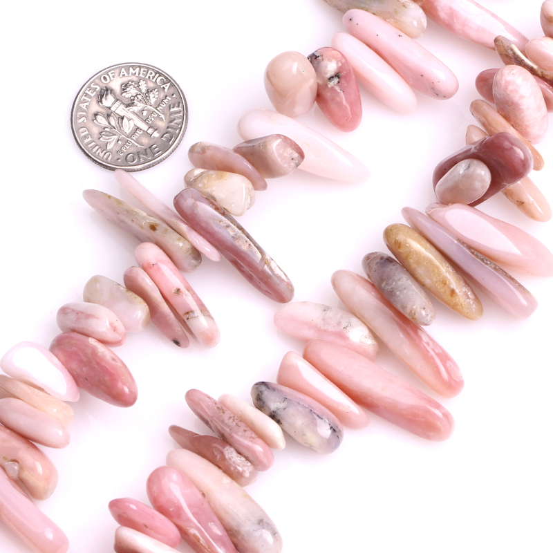 Gem-inside Natural Smooth Freeform Tusk Stick Stone Beads For Jewelry Making 15 DIY Pendants Jewellery Necklace Valentine Gift