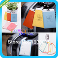 New pu leather pieces of moment travel Baggage Luggage tag Bag Tag bus card sets Silica gel products