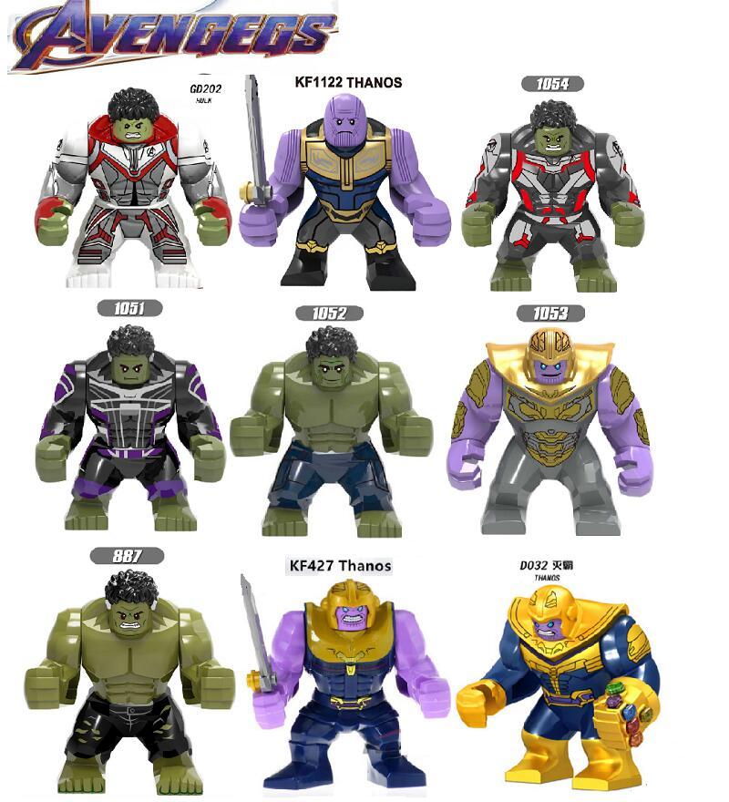 Single Sale Building Blocks Avengers 4 Endgame Space Iron Man Hulk Thanos Action Figures For Children Learning Gift Toys