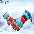 outdoor thickness themal fleece children Skiing Glove winter autumn child warm ski gloves cycling cotton windproof baby glove