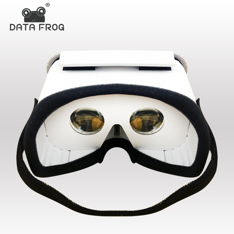 Data Frog DIY Portable Virtual Reality Glasses Google Cardboard 3D Glasses VR Box For SmartPhones For Iphone X 7 8 VR new diy google cardboard virtual reality vr mobile phone 3d viewing glasses for 5 0 screen google vr 3d glasses