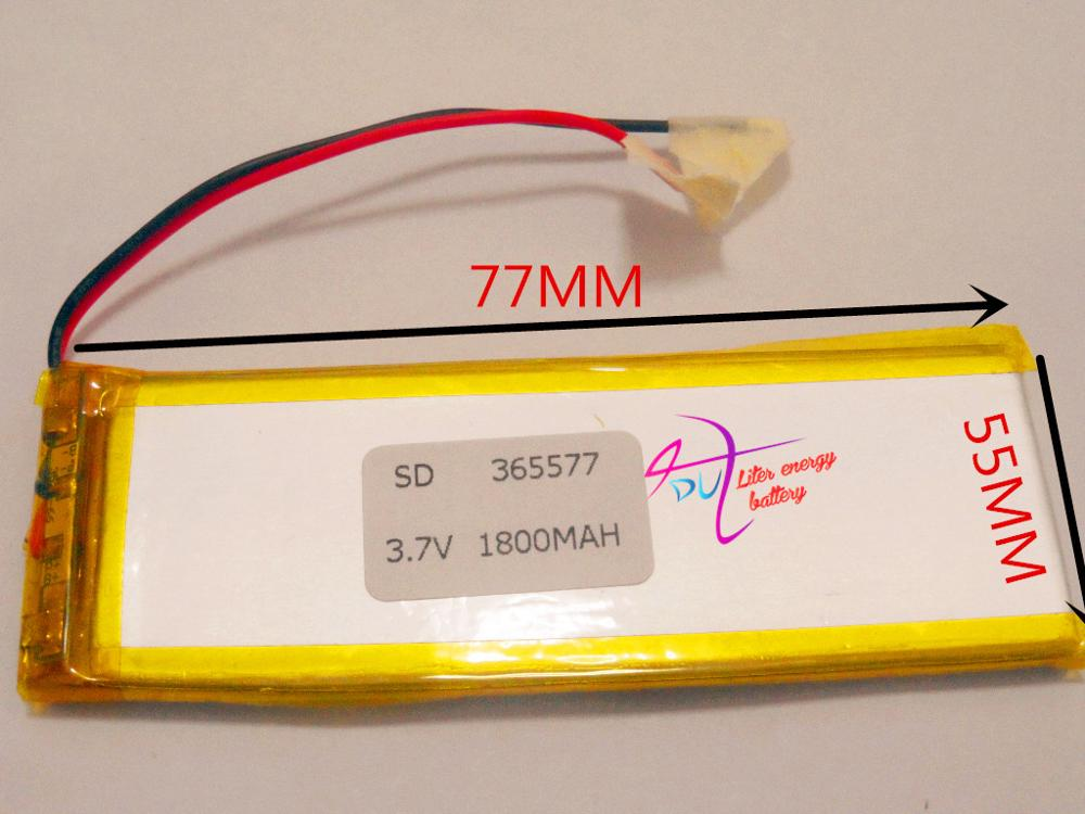 best battery brand Size 365577 3.7V 1800mah Lithium polymer Battery with Protection Board For MP4 PSP GPS Tablet PCs PDA Free Sh