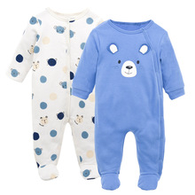 100% Cotton  spring and autumn Cartoon Printed Long Sleeves Baby Romper Newborn Pajamas nursing Clothes