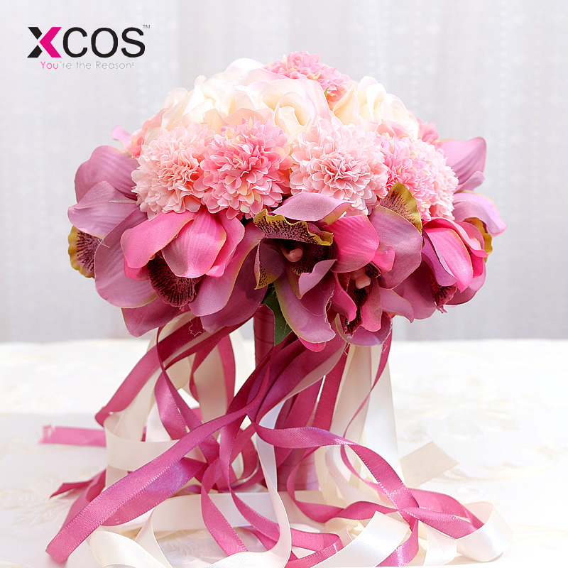 What Are Cheap Flowers For Weddings: 2019 Cheap Wedding Flower Bridal Bouquet For Bride