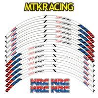 MTKRACING 12 X Thick Edge Outer Rim Sticker Stripe Wheel Decals FIT all HONDA cbr 600rr cbr1000RR