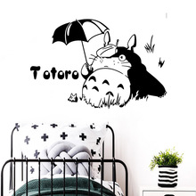 цена на 3D totoro Wall Sticker Removable Wall Stickers Diy Wallpaper Waterproof Wall Decals Sticker Mural Kids Room adesivi murali