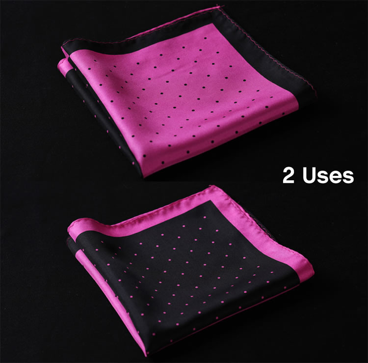 N142 HN14K1 Hot Pink Black Polka Dot 33cm (1)