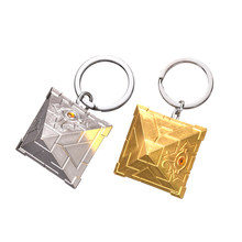 3D Yu-Gi-Oh Keychain Anime Yugioh Millenium Key Chains Toy Yu Gi Oh Cosplay Pyramid Egyptian Eye Of Horus Key Ring Holder(China)