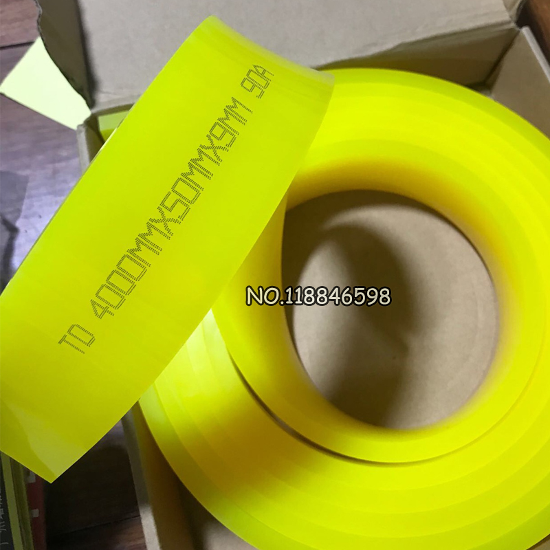 Yellow Color Screen Printing Squeegee Scraper Strips Screen Priting Scraper for Squeegee Tool High 90A Durometer Hardness
