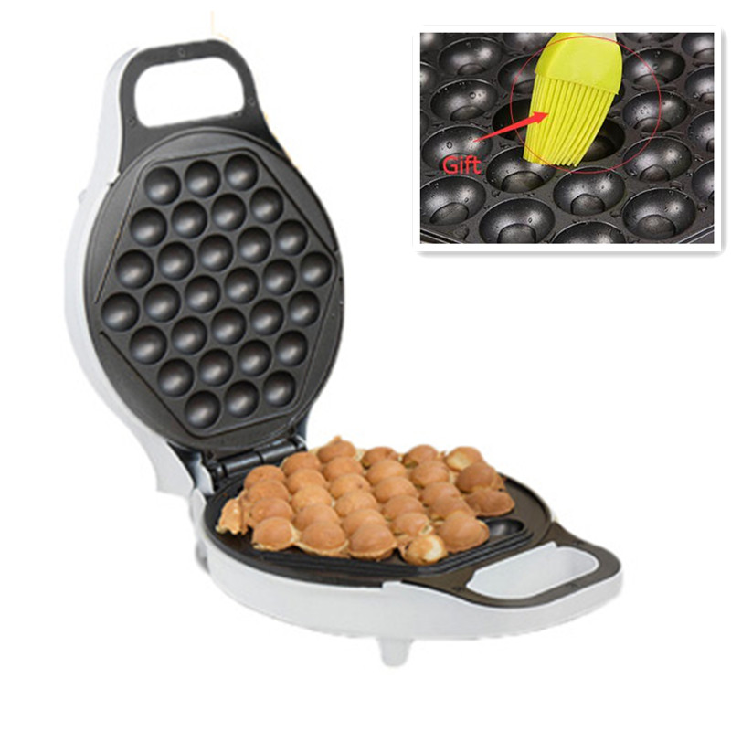 220V Electric Eggette Waffle Maker Machine Non-stick Household Egg Cake Bubble Waffle Machine Thermostability Oil Brush For Gift original xiaomi mijia roller pen white