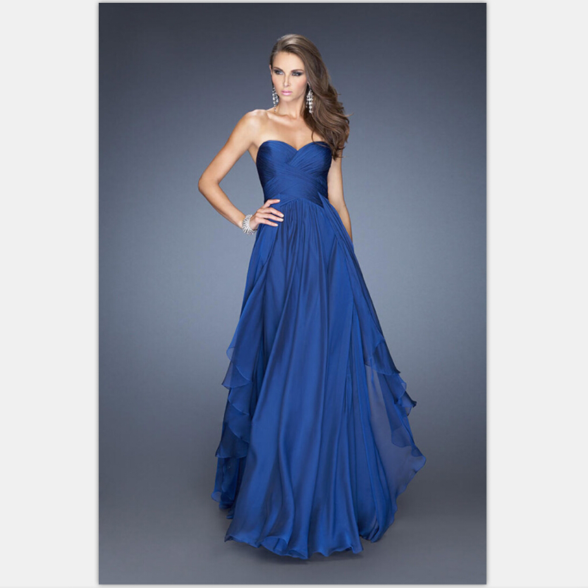 Summer dress royal blue emerald green chiffon dress for Blue green wedding dress