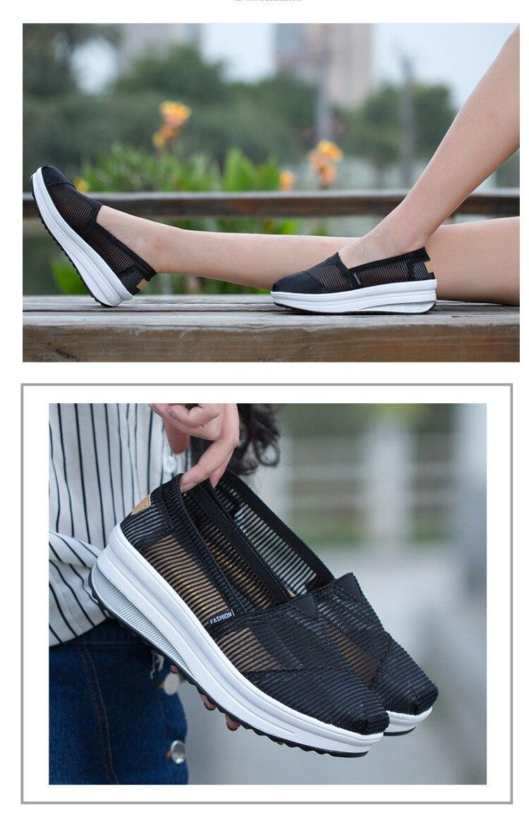 SWYIVY/женские тонизирующие туфли; сетчатая дышащая обувь на толстой подошве; обувь для танцев; Новинка года; летние легкие мягкие женские туфли для похудения