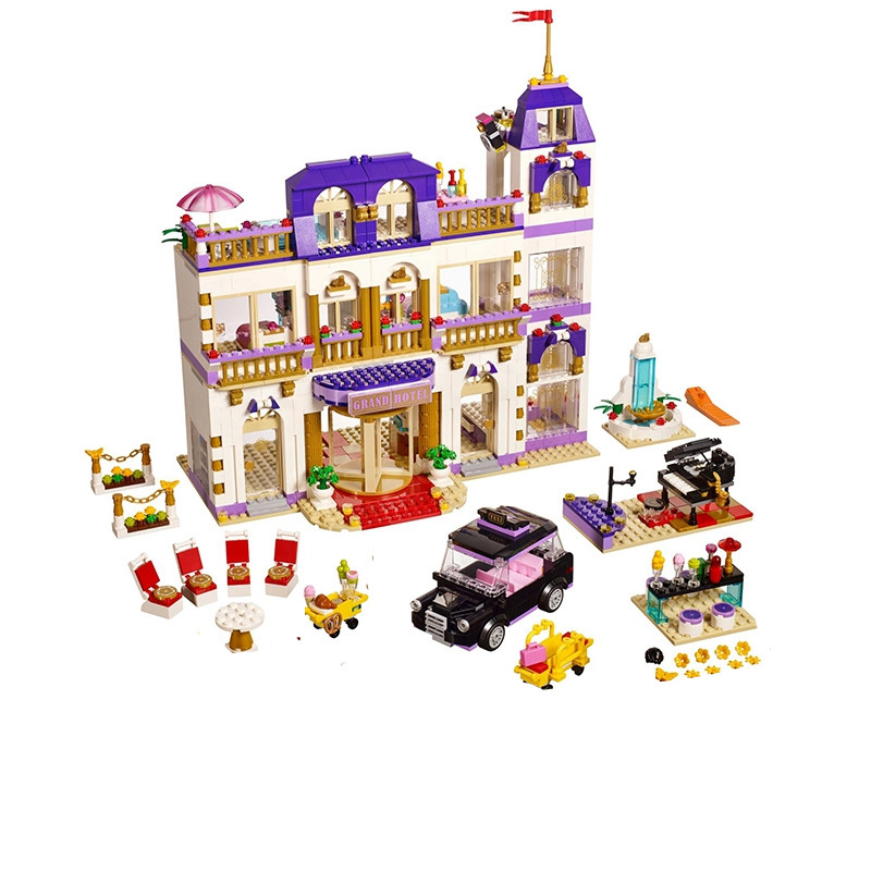 Lis 01045 1676Pcs Girls Series The Heartlake Grand Hotel Fun Children Eucational Building Blocks Bricks Toys Model Gift 41101 lepin 01045 1676pcs girls series heartlake grand hotel set children eucational building blocks bricks toys model gift 41101