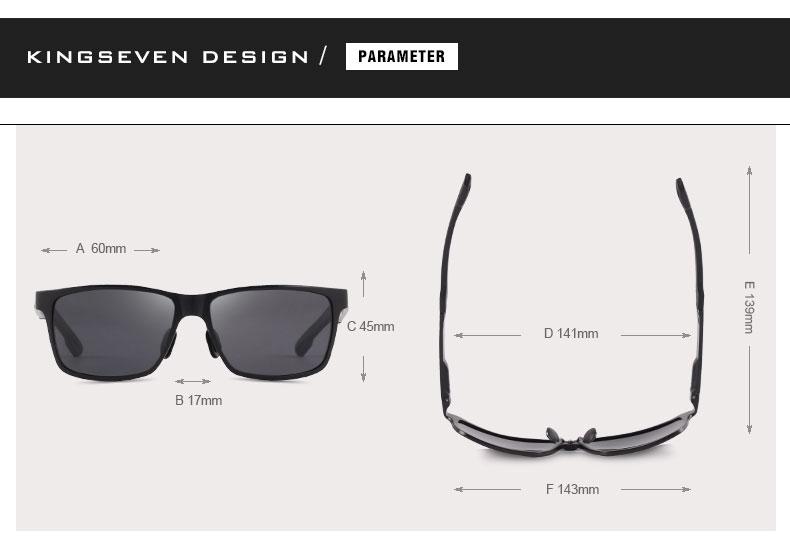 2017 New KINGSEVEN Polarized Sunglasses Men Brand Designer Male Vintage Sun Glasses Eyewear gafas oculos de sol masculino N7180 2
