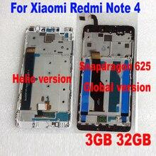 LTPro MTK Helio X20 version/globale version 32 GB/64 GB LCD Display Touchscreen Digitizer Assembly + rahmen für Xiaomi Redmi Hinweis 4