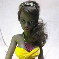 132 cm black love doll high quality real Dark sex doll soft vagina minilove real doll sex toy masturbator for men 132#nana