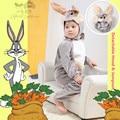 Genuine Deluxe Baby Infant Kids Furry Bugs Bunny Rabbit Cartoon Cosplay Clothing Child Halloween Fantasia  Fancy Costumes