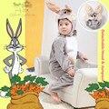 Genuino de Lujo Bebé Infantil Niños Peludos de Bugs Bunny el Conejo de Dibujos Animados Ropa Fantasia Infantil de Halloween Disfraces de Cosplay