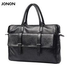 Jonon PU Leather bag Business Men bags Laptop Tote Briefcases Crossbody bags Shoulder Handbag Men's Messenger Bag