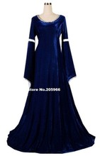 Custom Made to your Size Velvet Ladies Deluxe Quality Medieval Renaissance Costume/Party Dress/Victorian Dress