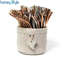 100pcs/batch Reusable Metal Straws E co friendly Stainless Steel Drinking Straw With Brush Bag 215mm*6mm Tubes For 20/30oz Mugs