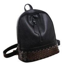 Новый рюкзак путешествия корейский Для женщин рюкзак досуг студент школьная сумка из мягкой искусственной кожи Для женщин сумка Роскошные Дизайнерские Оптовая продажа #751263