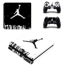 PS4 Sticker 23 Air Man: Jordan Decal PS4 Slim Skin Sticker for Sony Play Station 4 PS4 PRO Console and Two Controllers Skins