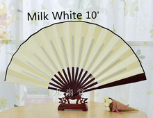 10pcs/lot Free shipping Big DIY Hand Fan White Folding Fans Chinese Silk Decorative Fine Art Painting