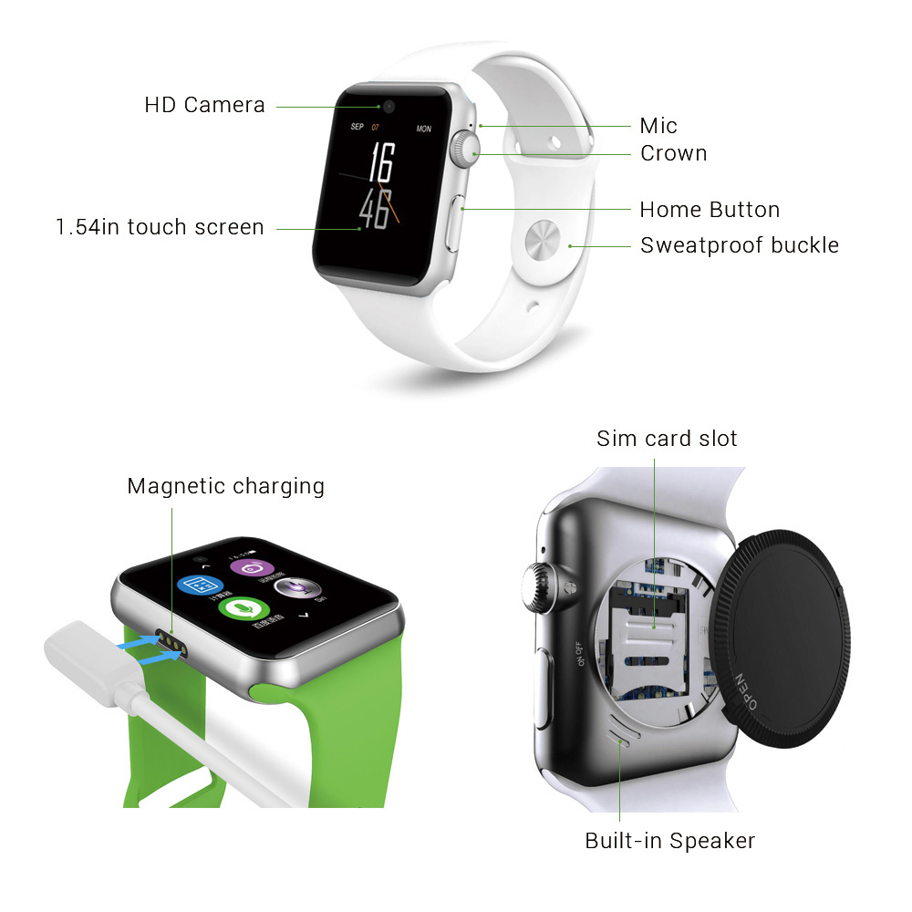 ZAOYIEXPORT DM09 Bluetooth Smart Watch HD Screen Support SIM Card Wearable Devices Clock Sync Magic Knob For IOS Android System 2016 bluetooth smart watch dm09 hd screen support sim card wearable devices smartwatch for ios android pk dm08 gt08 dz09