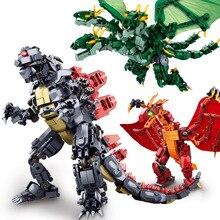New Children Dinosaur monster Robots Toys for Childrens Intelligence Assembling Building Block jurassic warcraft model