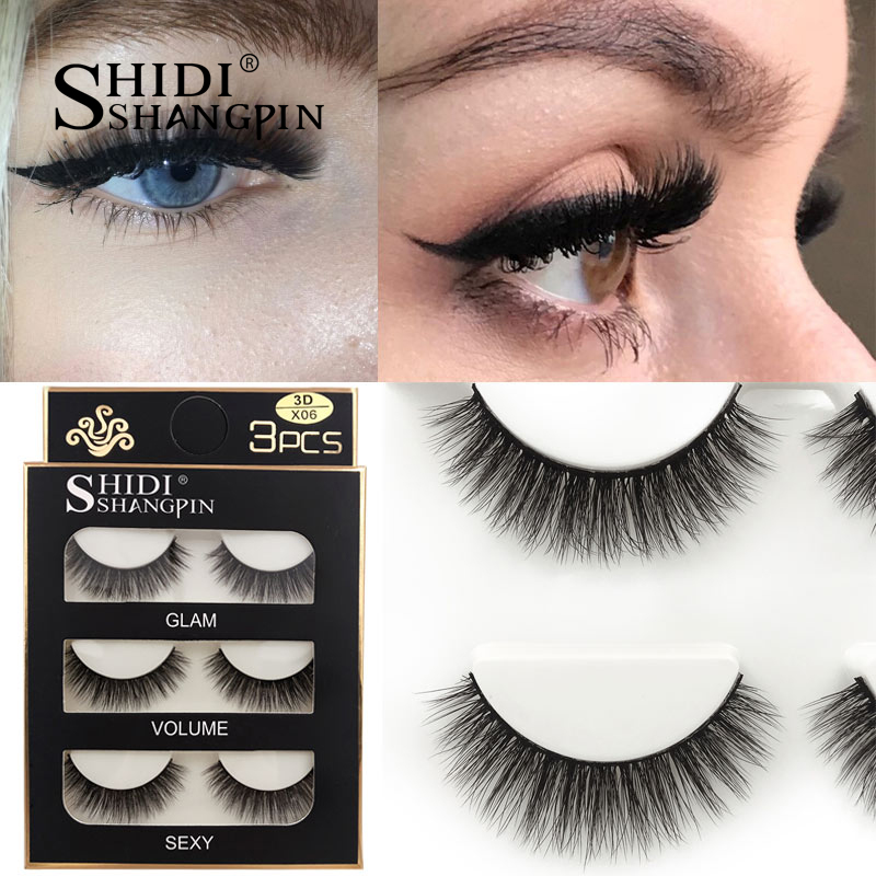 HTB1BfpLXPLuK1Rjy0Fhq6xpdFXaX SHIDISHANGPIN 3 pairs mink eyelashes natural fake eye lashes make up handmade 3d mink lashes false lash volume eyelash extension