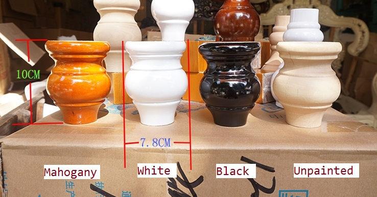 4PCS/LOT Premintehdw Dia78*H100mm Solid Wood Sofa Cupboard Cabinet Furniture Leg Legs Fe ...