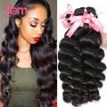 7A Virgin Peruvian Loose Wave 4Pcs/Lot Unprocessed Peruvian Human Hair Weave Bundles VIP Beauty Peruvian Virgin Hair Loose Wave