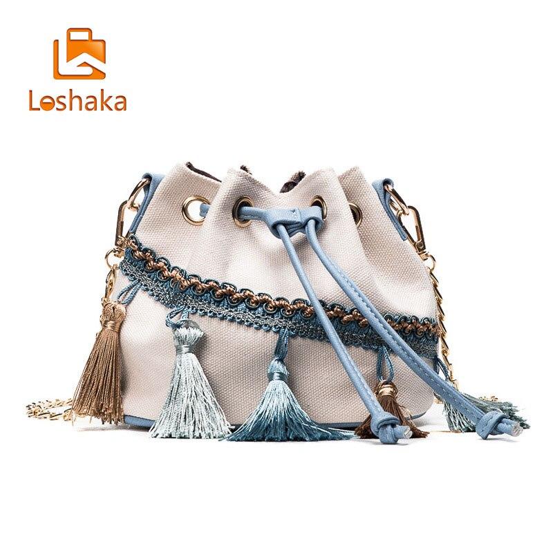 Luxury Bohemia Canvas Drawstring Bucket Bag Women Messenger Bags Female Shoulder Bag Bolsa Feminina women bohemia canvas drawstring bucket bag shoulder handbags messenger bags feminina bolsos