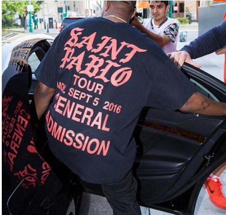 Mode Hip Hop 2018 chanteur Kanye West Saint Pablo Tour t-shirts je me sens comme Paul coton T-shirt hommes femmes T-shirt