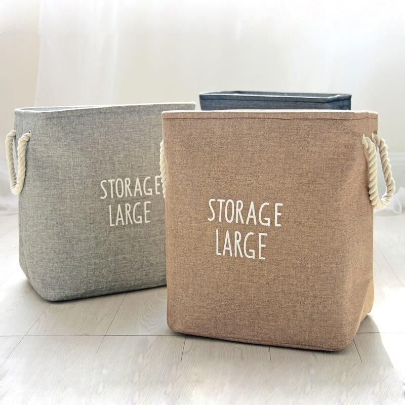 Große Wäschekorb Tasche Leinwand Kleidung Ablagekörbe Hause Kleidung Barrel Taschen Kinder Spielzeug Lagerung Wäschekorb Dicke Bins